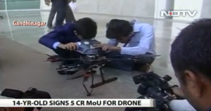 14-Year-Old Boy Signs 5 Crore (700.000$) Deal For His Anti-Landmine Drone