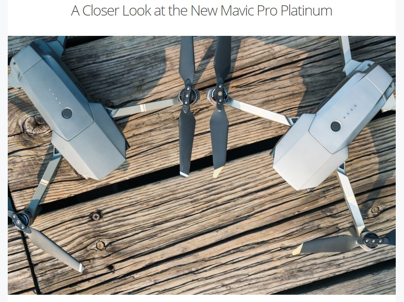 DJI Mavic Pro Platinum Edition Closer Look Test