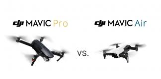 mavic pro vs mavic air dji comparison