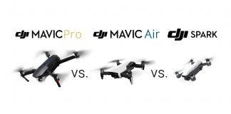 mavic pro vs mavic air vs spark dji comparison