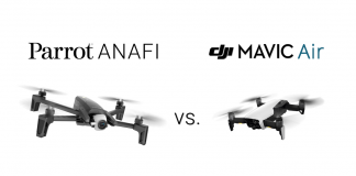 parrot anafi vs dji mavic air comparison