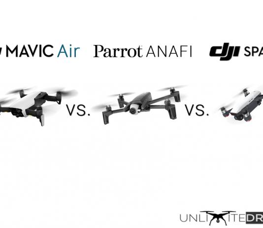 parrot anafi vs dji mavic air vs spark comparison