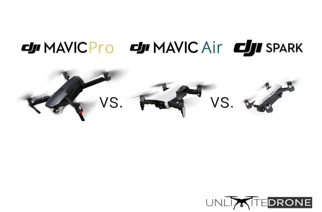 Mavic Pro Vs Air Spark Dji Comparison