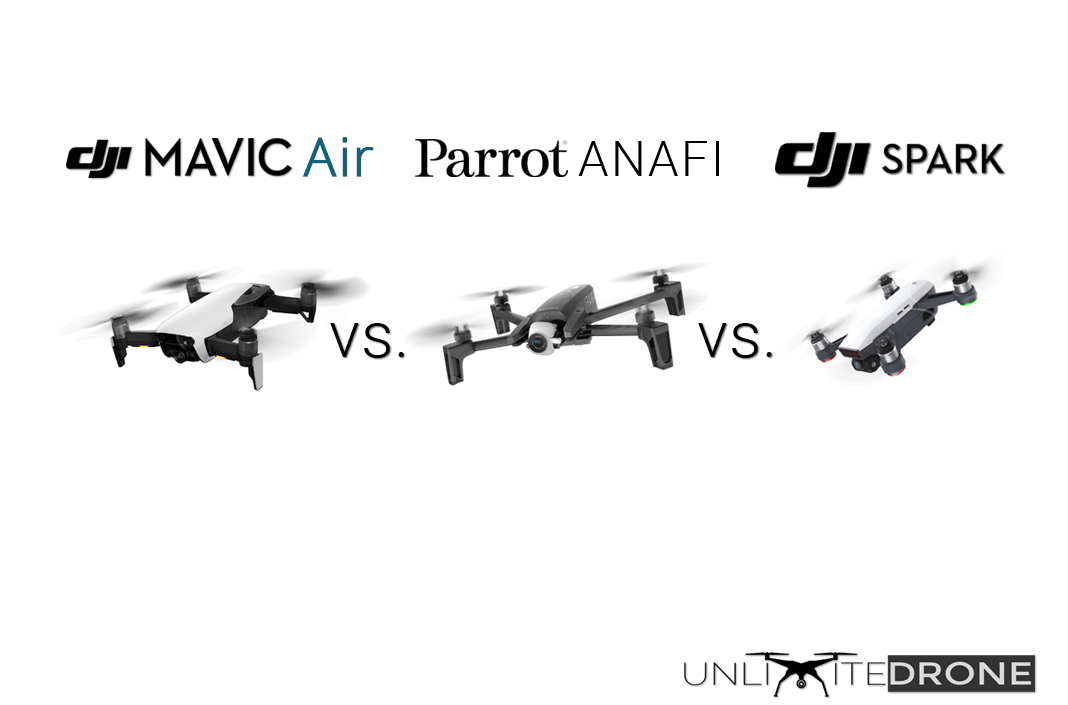 parrot anafi vs dji mavic air vs spark comparison